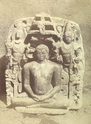 Buddha from Aingere. [Corrected caption: Digambara Jain image of the Tirthankara Parshavanatha, Annigeri]